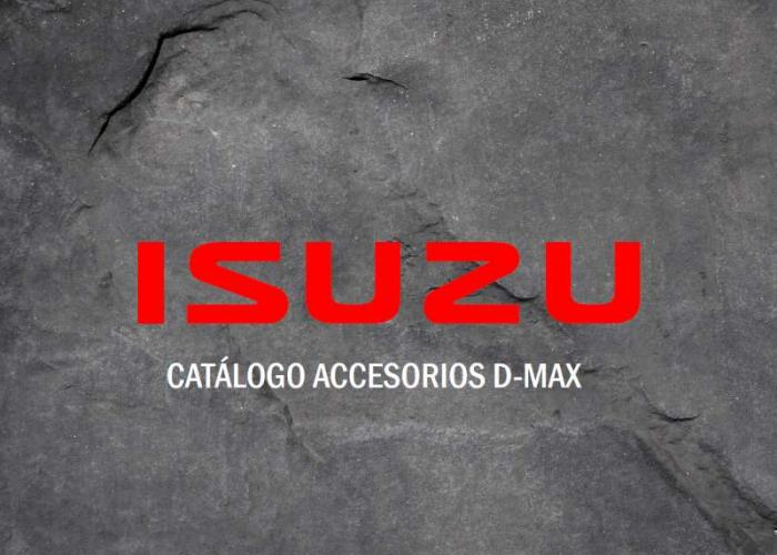 Catálogo de accesorios nuevo Isuzu D-Max Mayo 2019