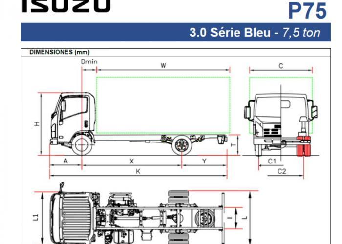 Fichas técnicas y Listado precios Isuzu P75 3.0
