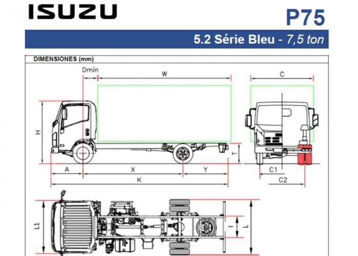 Fichas técnicas y Listado precios Isuzu P75 5.2